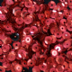 CLEARANCE BULK BAG  5mm Satin Red Semi-cupped Sequins x 100g.
